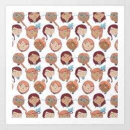 Pattern Project #22 / Girl Gang Art Print