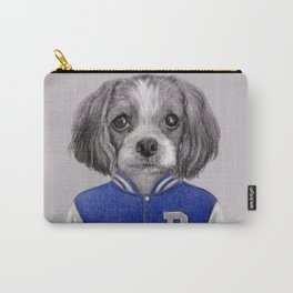 dog boy portrait Carry-All Pouch