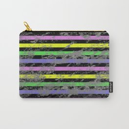 Linear Breakthrough - Abstract, geometric, textured artwork Carry-All Pouch
