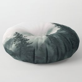 Over the Mountains and trough the Woods -  Forest Nature Photography Floor Pillow