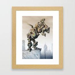A man's best friend Framed Art Print