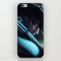 nightwing iPhone & iPod Skins featuring Nightwing by Nicole M Ales