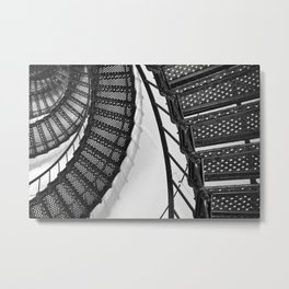 Hunting Lighthouse Stairs 1 Metal Print