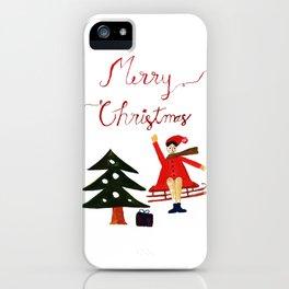Merry Christmas Scene iPhone Case