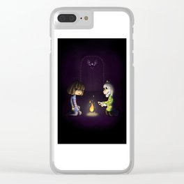 Frisk and Asriel Clear iPhone Case