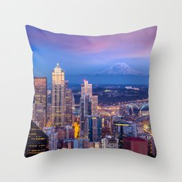 Seattle 01 - USA Throw Pillow