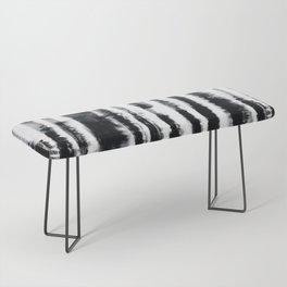 Tie-Dye Shibori Stripe BW Bench