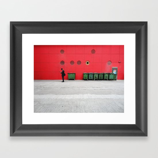 Red Hong Kong Framed Art Print