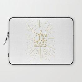 Shine on You Crazy Diamond Gold III Laptop Sleeve