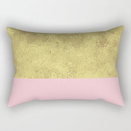 Blush liquid gold Rectangular Pillow