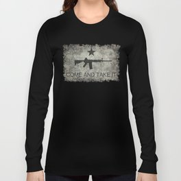 Come and Take it Flag with AR-15 Long Sleeve T-shirt