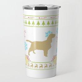 Ugly Sweater Christmas Shirt English Springer Spaniel Travel Mug