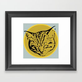 cathead Framed Art Print
