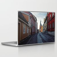 oslo Laptop & iPad Skins featuring Oslo street by Lauren Cassidy
