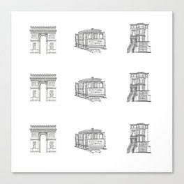 San Francisco Icons Canvas Print