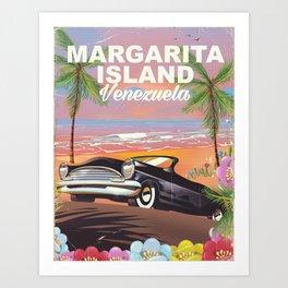 Margarita Island Venezuela travel poster Art Print