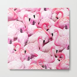 Flamingo Party Metal Print