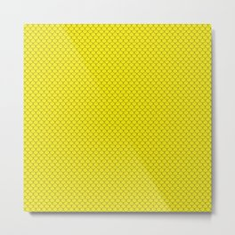Yellow Scales Pattern Metal Print