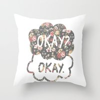 tfios Throw Pillows featuring OKAY?OKAY THE FAULT IN OUR STARS TFIOS HAZEL AUGUSTUS CLOUDS #2 by monalisacried
