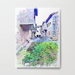 Camerata Nuova: glimpse with gray buildings Metal Print