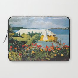 Flower Garden And Bungalow Bermuda 1889 By WinslowHomer | Reproduction Laptop Sleeve