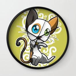 Zodiac Cats - Gemini Wall Clock