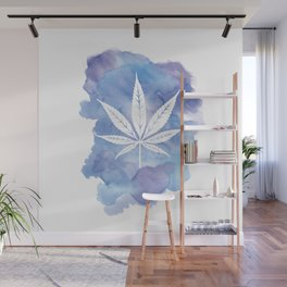 One Love: Blue Wall Mural