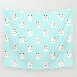 Lucky happy Japanese cat pattern Wall Tapestry
