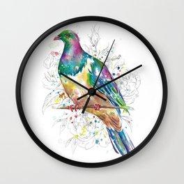 Sketchy Wood Pigeon (Kereru) Wall Clock