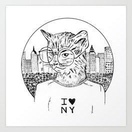 NY Cat Art Print