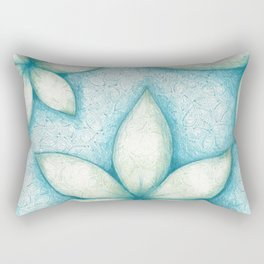 Colored Pencil: Three Plants Rectangular Pillow