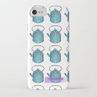 soviet iPhone & iPod Cases featuring soviet tea kettle pattern by lambaliha
