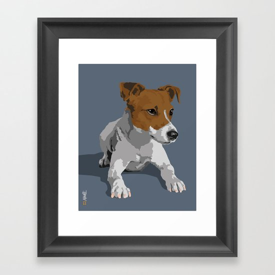 Jack Russell Terrier Dog Framed Art Print