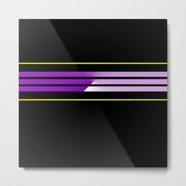 Team Colors 5...Purple,yellow Metal Print