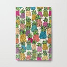 West Coast pineapples Metal Print