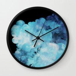 Blue smoke Wall Clock