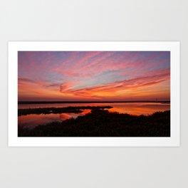 Sunrise Huntington Beach / Bolsa Chica Wetlands  Art Print