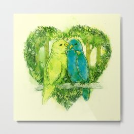 I Love You @Tweet Metal Print