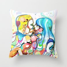 Kiss Like Lovers Do Throw Pillow