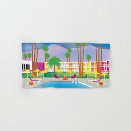 Palm Springs, California - Skyline Illustration by Loose Petals Hand & Bath Towel
