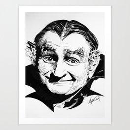 Grandpa Munster Art Print