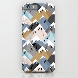Alpine mountains winter climbing peaks snow iPhone Case