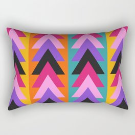 Multicolored arrows and bright stripes Rectangular Pillow
