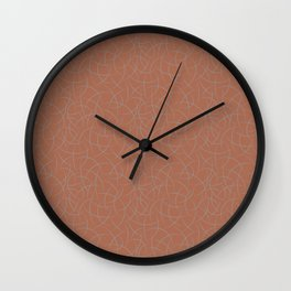 Slate Violet Gray SW9155 Abstract Crescent Shape Pattern on Cavern Clay SW 7701 Wall Clock