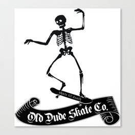 ODS Grinding Skeleton Canvas Print