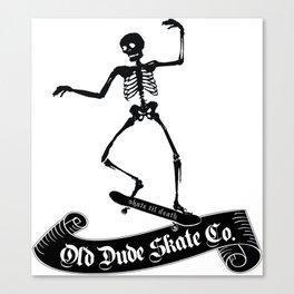 ODS Grinding Skeleton Canvas Print