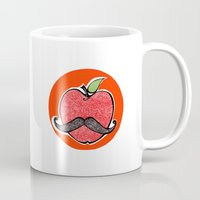 apple Mugs featuring Apple by Ilariabp.art