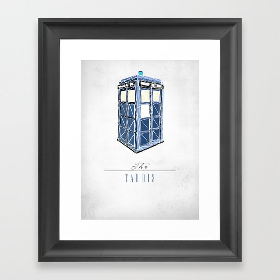 The Tardis Framed Art Print