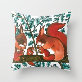 Noah's Ark - Squirrel Throw Pillow