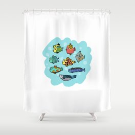 Fish Portrait in Sea Shower Curtain